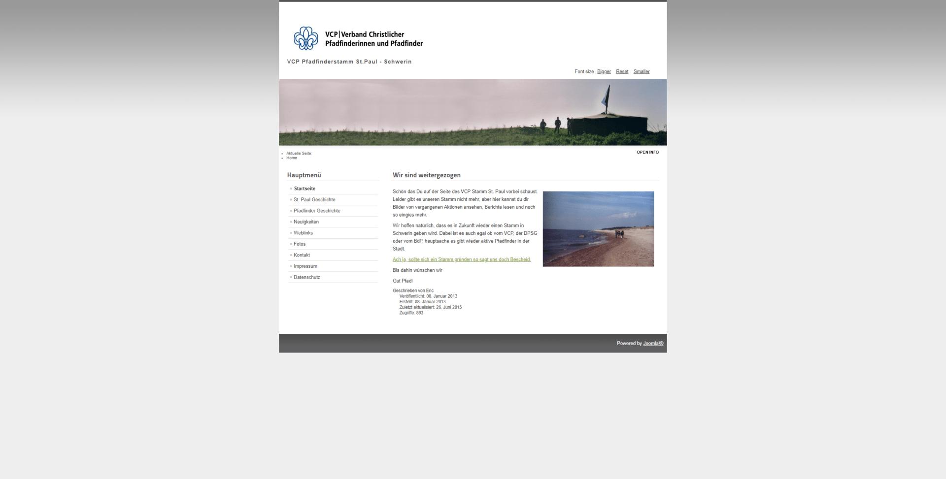 Website pfadfinder-schwerin.de