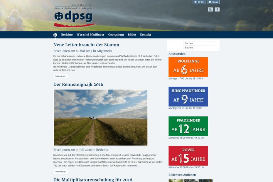 Website pfadfinder-erfurt.de