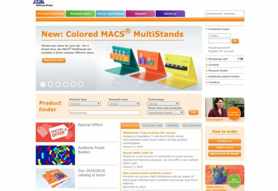 Website Miltenyi